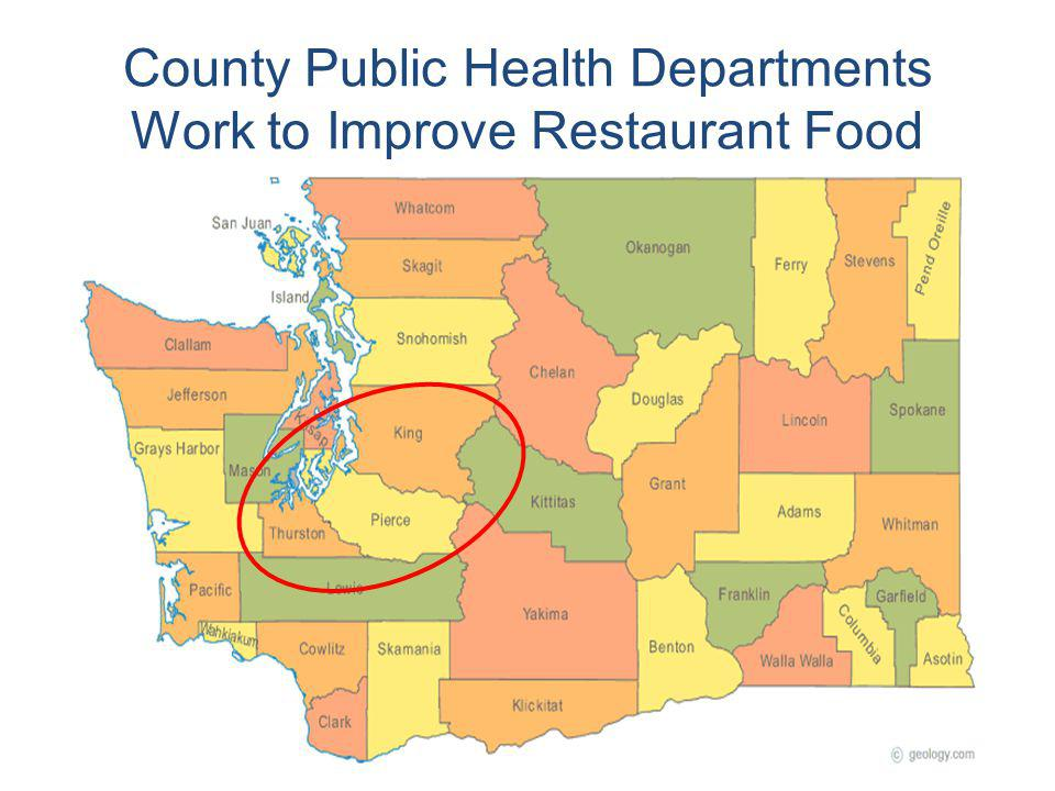 County Public Health Departments Work to Improve Restaurant Food