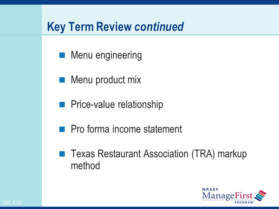 Key Term Review continued
