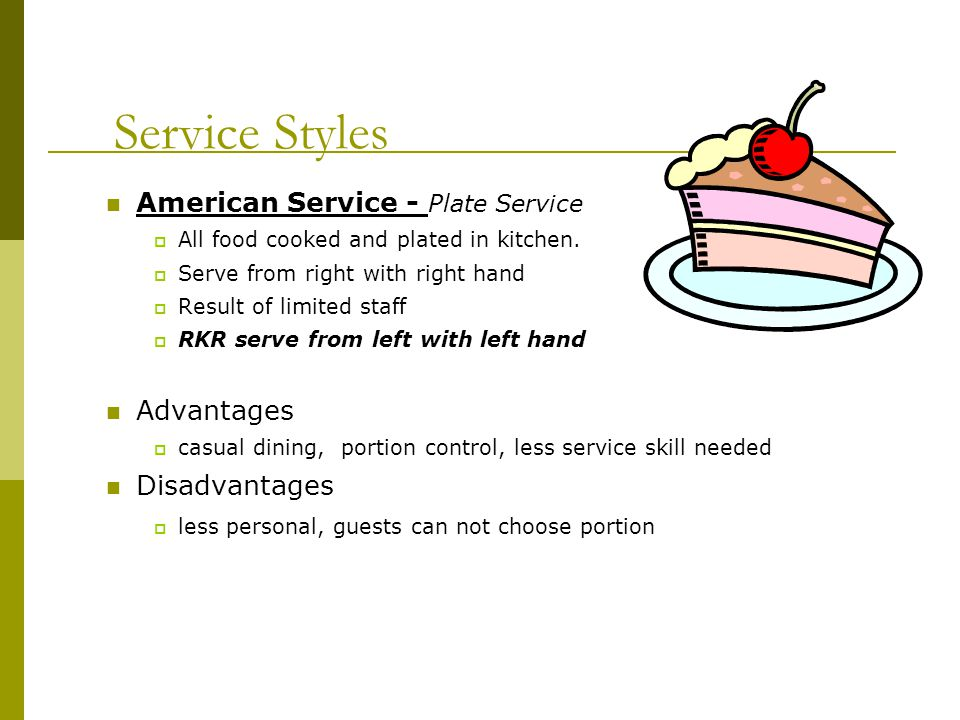 Styles Of Table Service Ppt Video Online Download