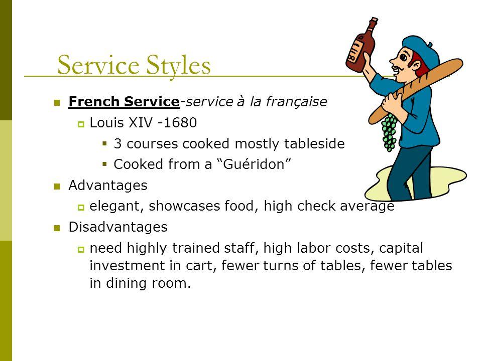 Service Styles French Service-service à la française Louis XIV -1680