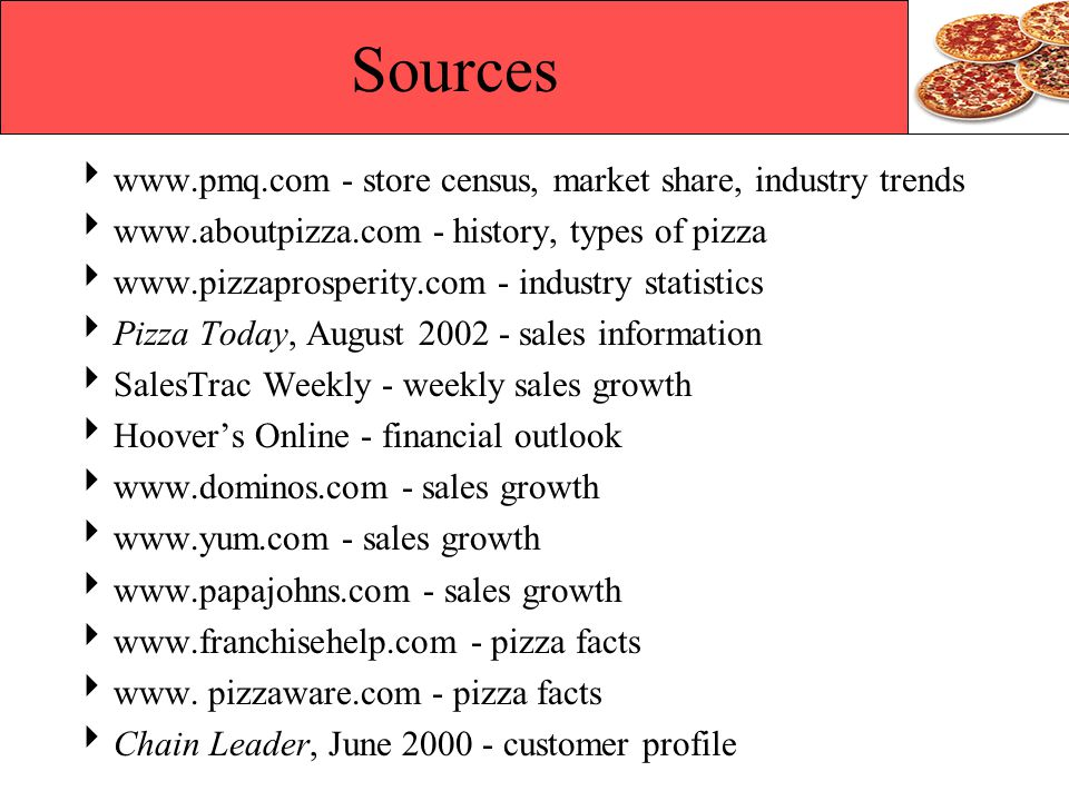 Sources www.pmq.com - store census, market share, industry trends