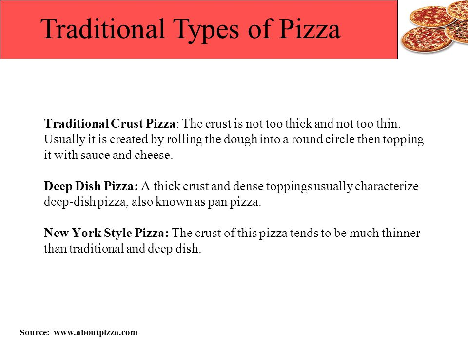Traditional Types of Pizza
