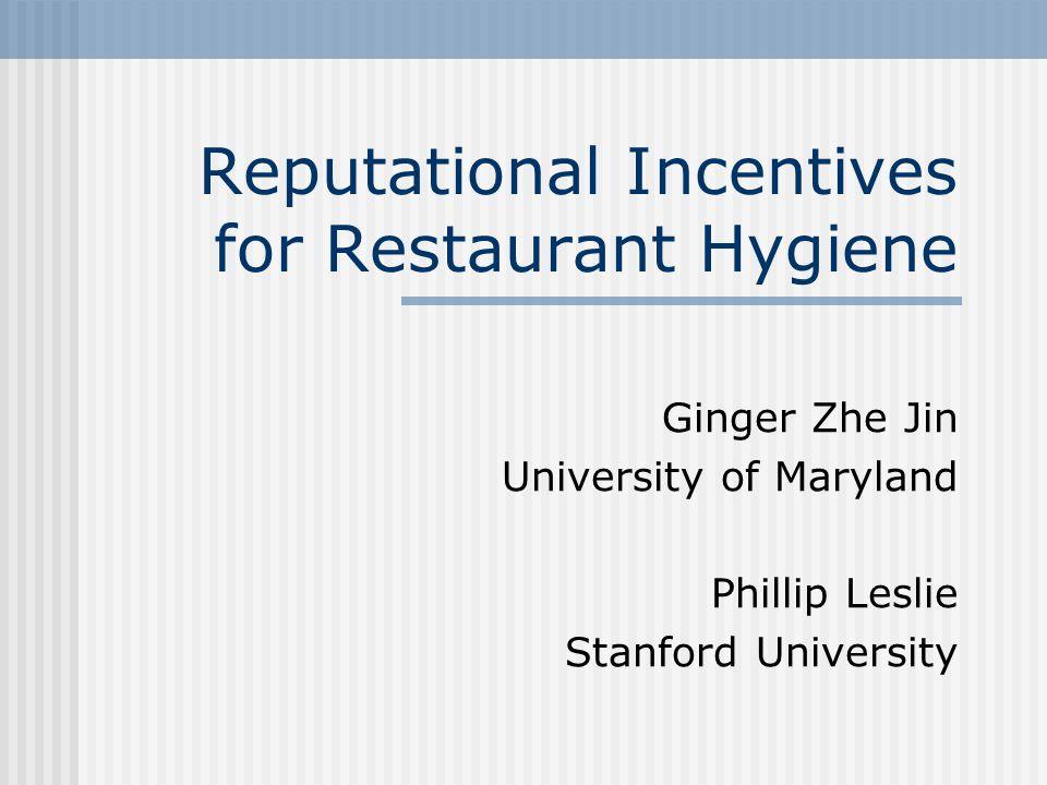 Reputational Incentives for Restaurant Hygiene