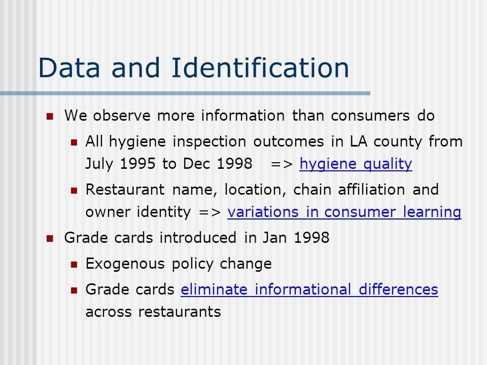 Data and Identification