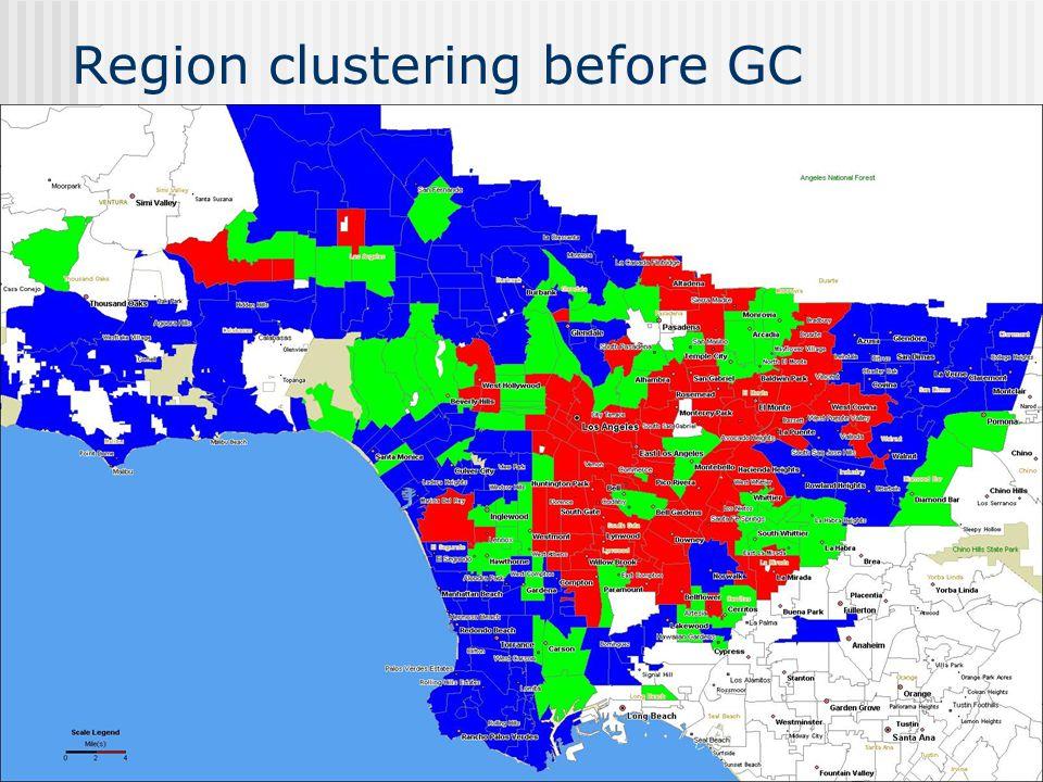Region clustering before GC