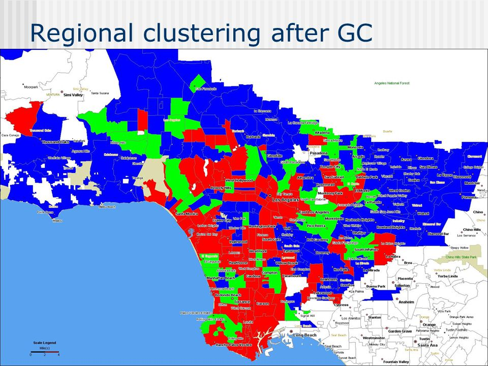 Regional clustering after GC