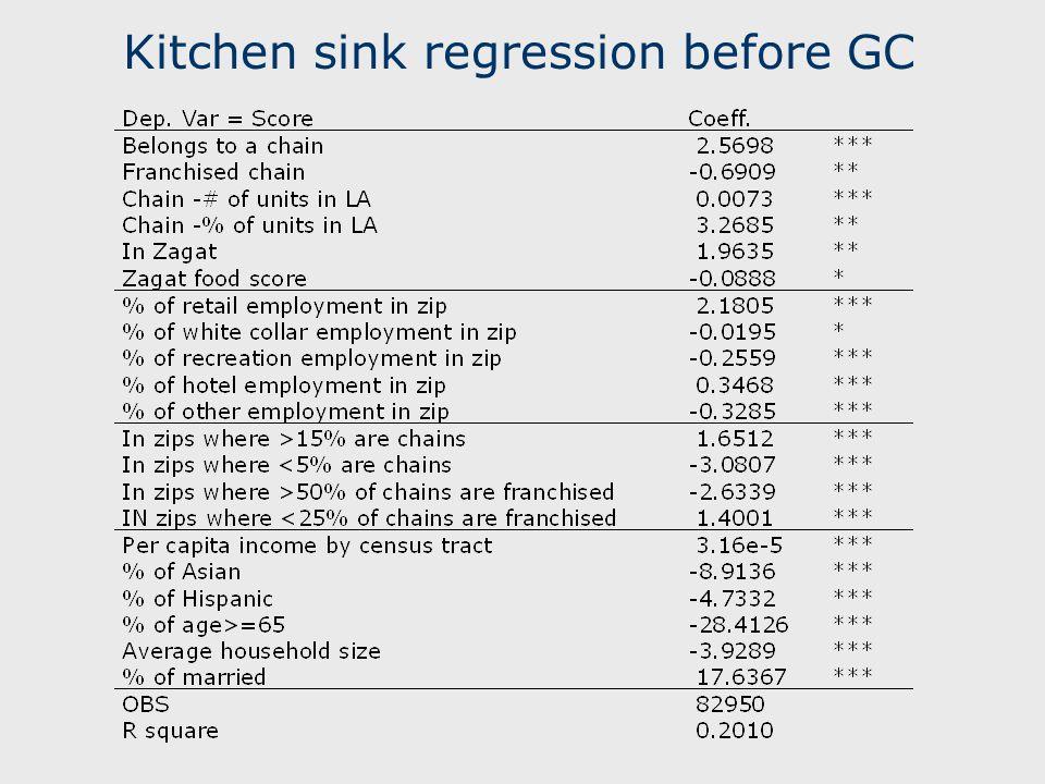 Kitchen sink regression before GC