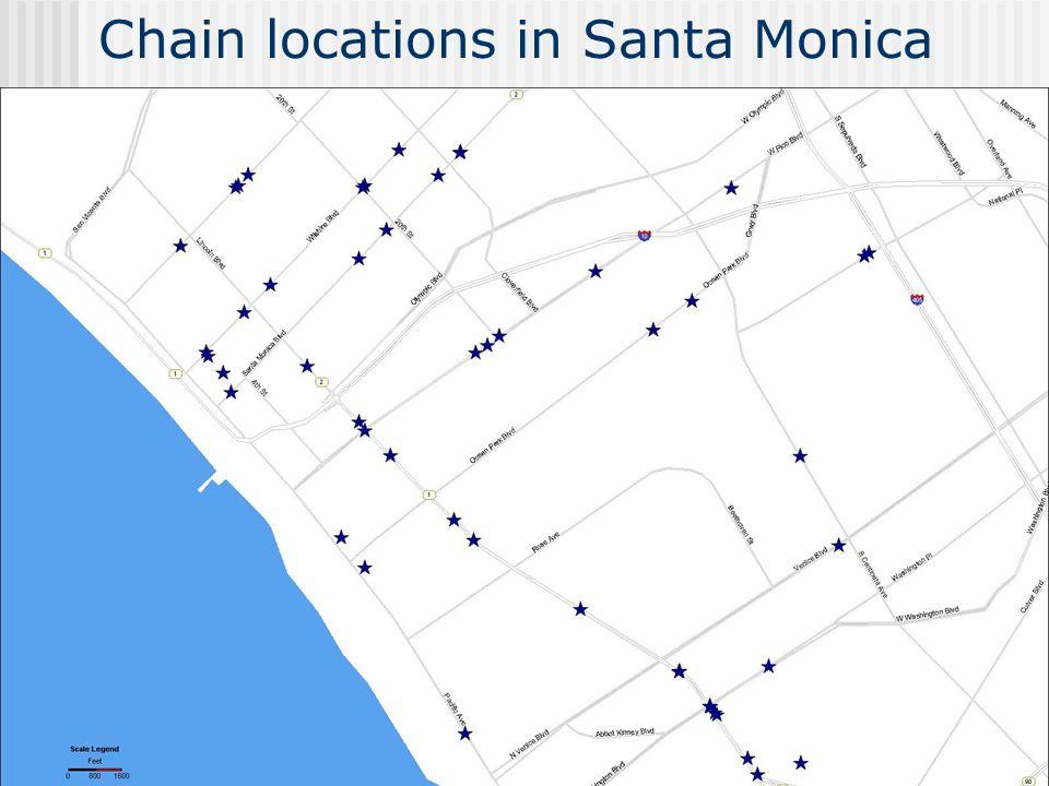 Chain locations in Santa Monica