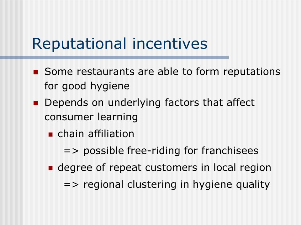 Reputational incentives