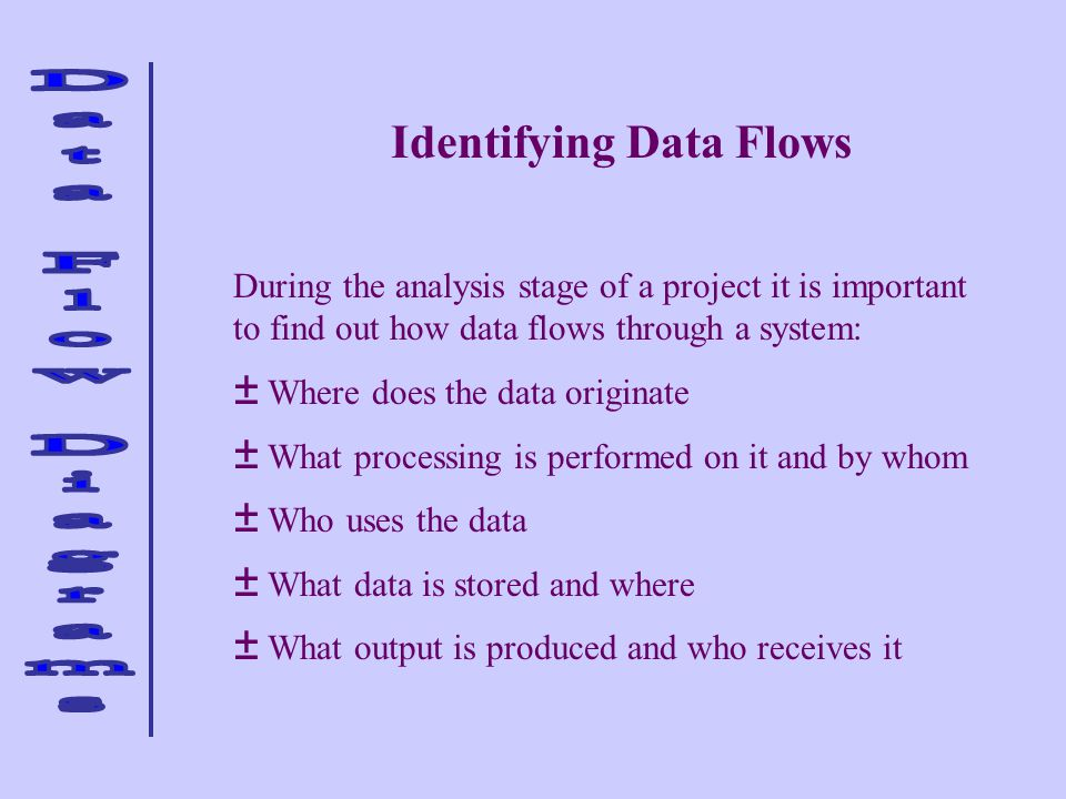 Identifying Data Flows