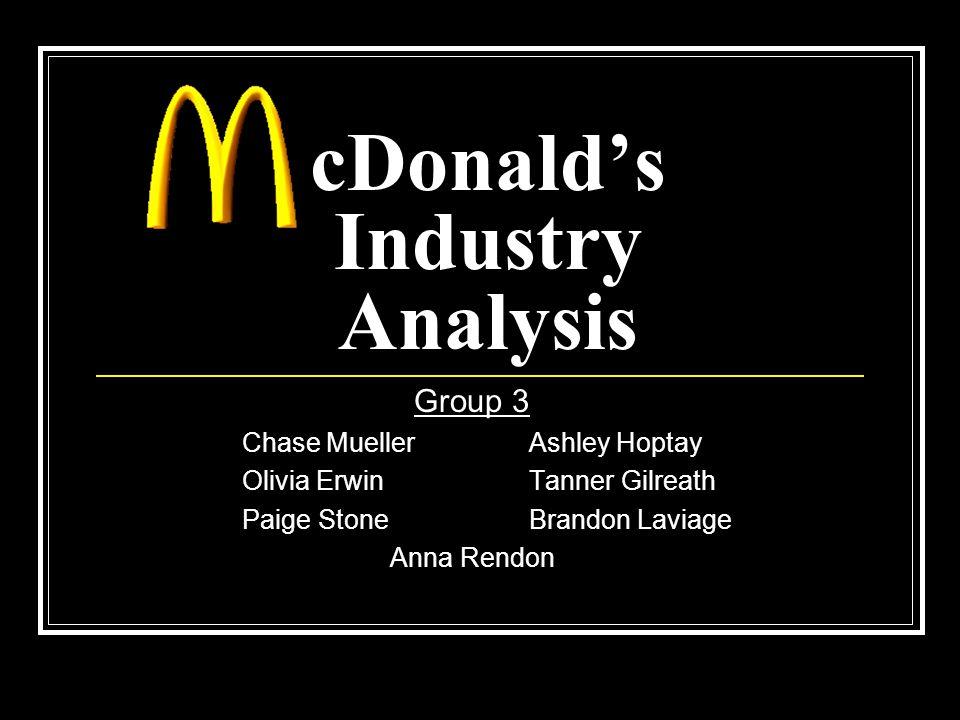 cDonald's Industry Analysis