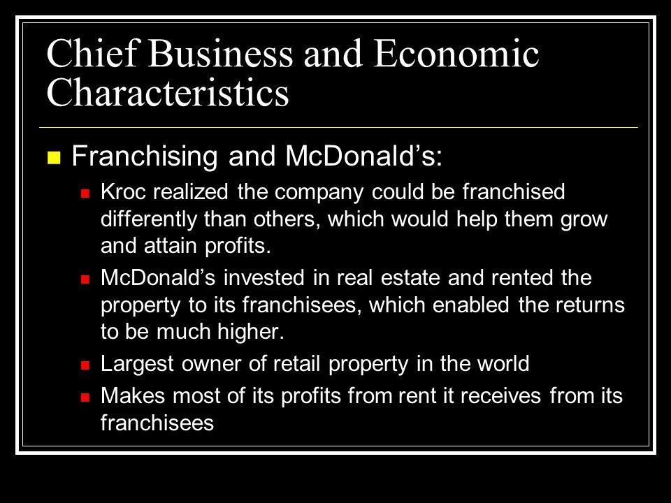 Chief Business and Economic Characteristics