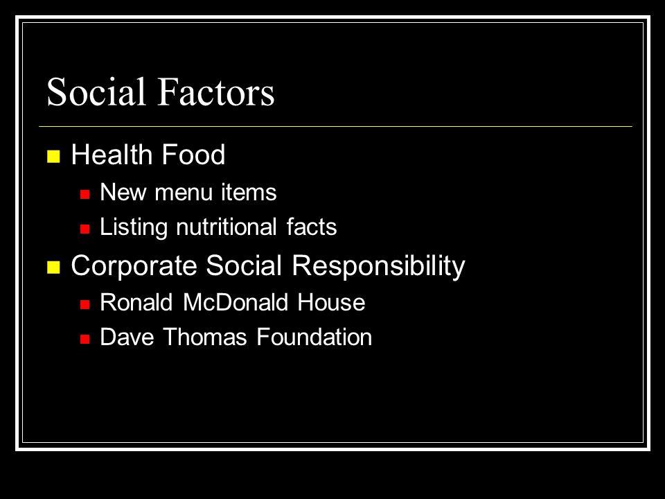 Social Factors Health Food Corporate Social Responsibility