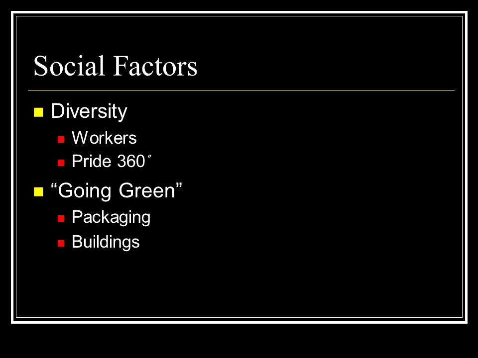 Social Factors Diversity Going Green Workers Pride 360˚ Packaging