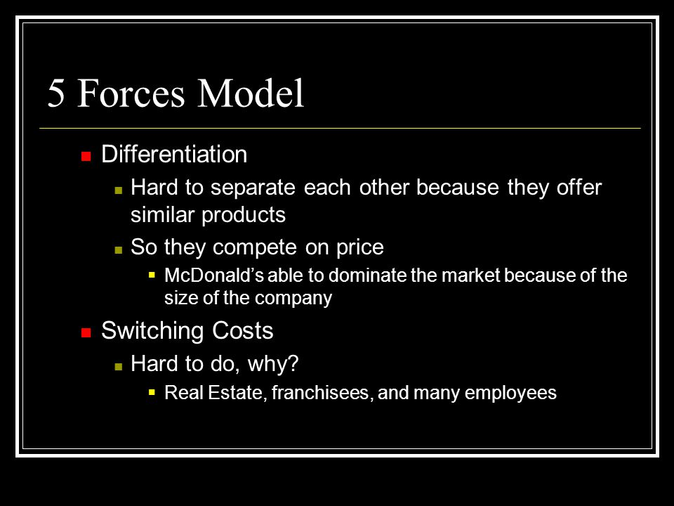 5 forces real estate Porters 5 forces applied to the construction industry the collective impacts of the five competitive forces will result in lower profitability of the industry participants the rivalry amongst competitors is very vigorous.