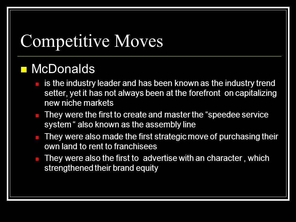 Competitive Moves McDonalds