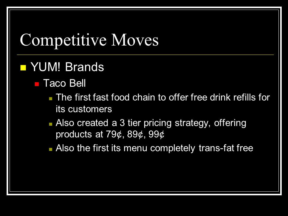 Competitive Moves YUM! Brands Taco Bell
