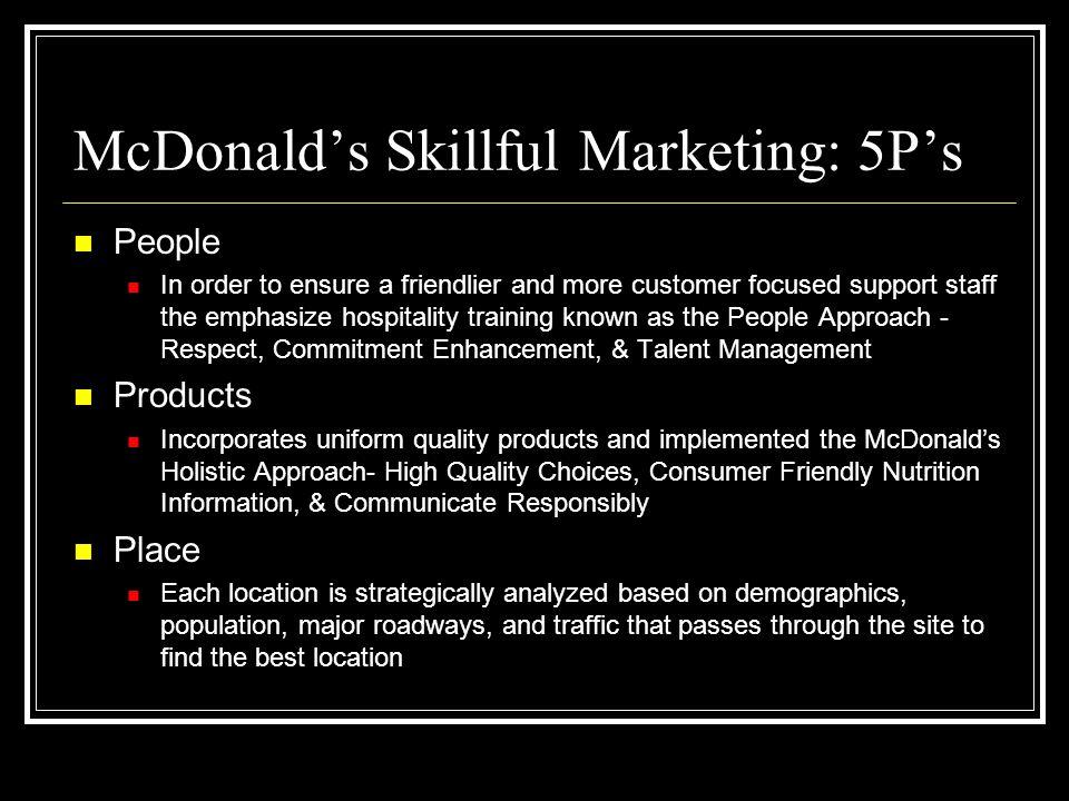 McDonald's Skillful Marketing: 5P's