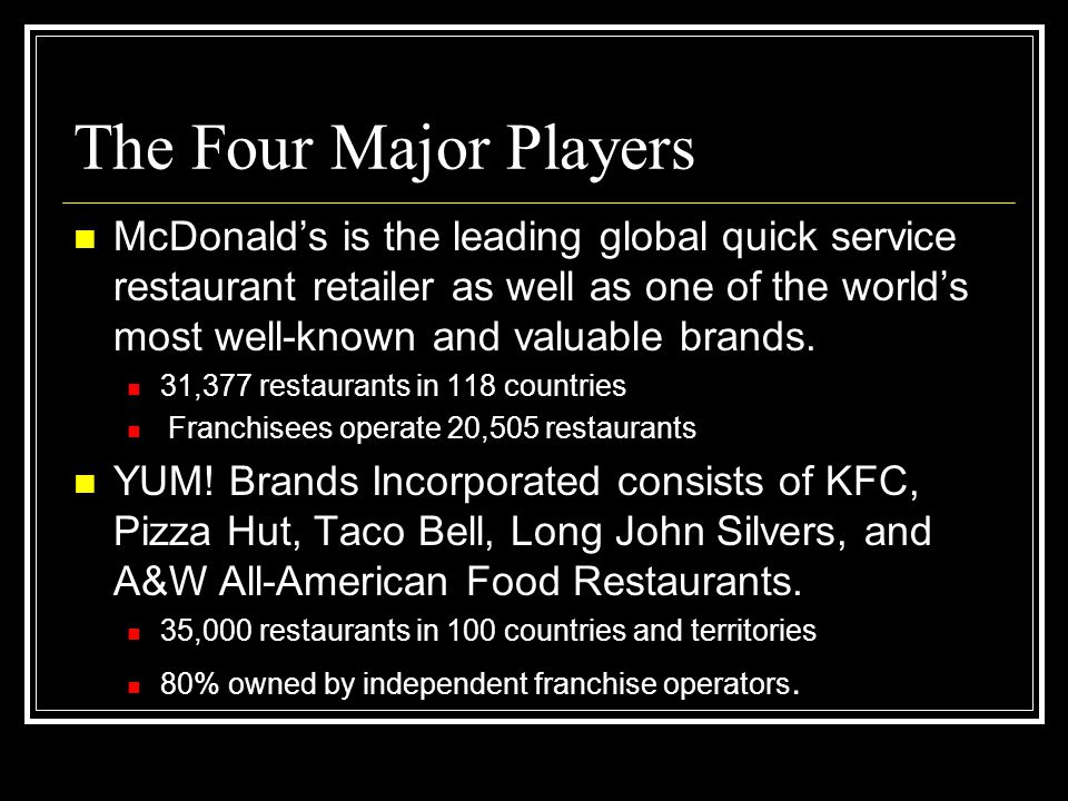 The Four Major Players