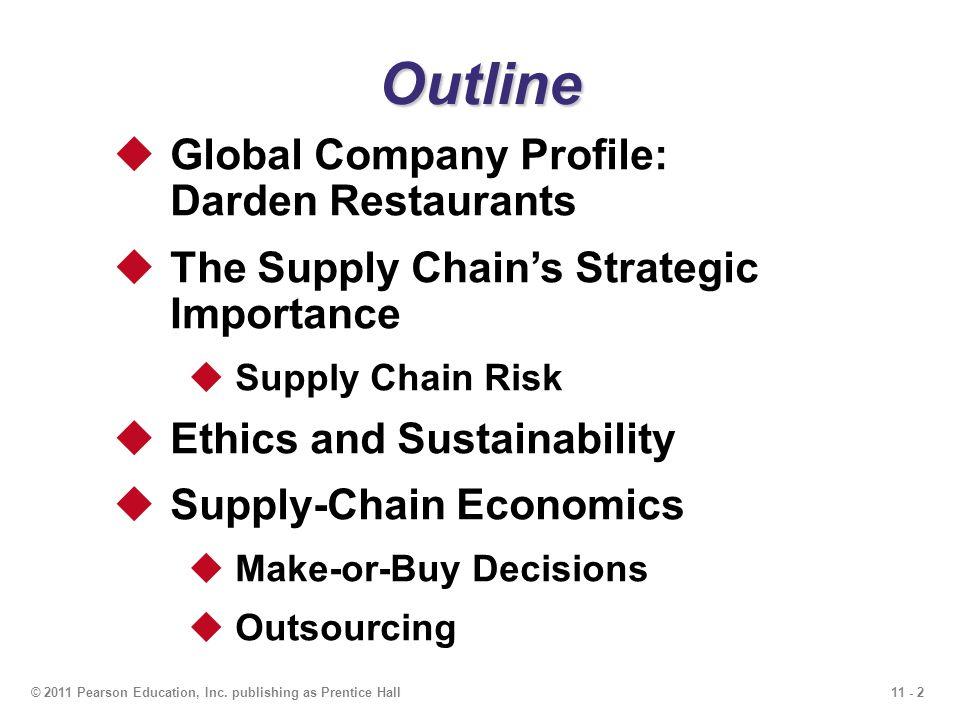 Outline Global Company Profile: Darden Restaurants