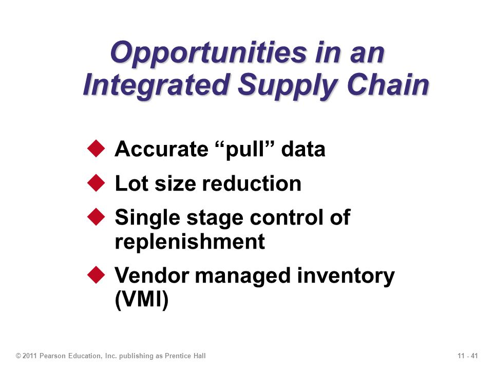 Opportunities in an Integrated Supply Chain