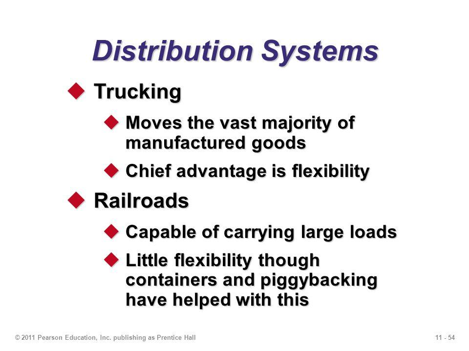 Distribution Systems Trucking Railroads