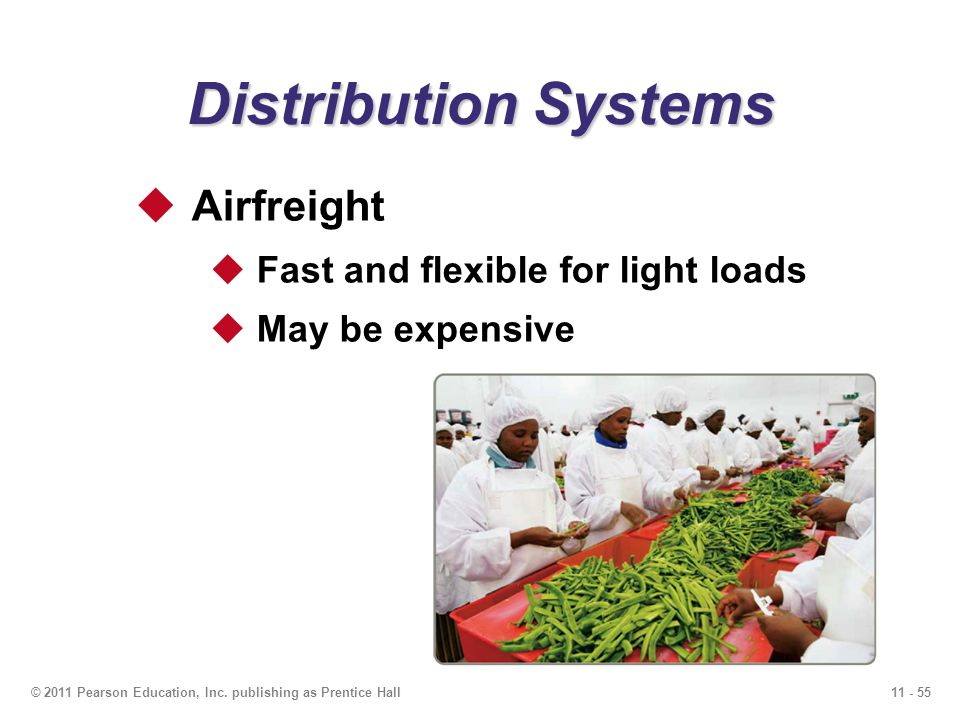 Distribution Systems Airfreight Fast and flexible for light loads