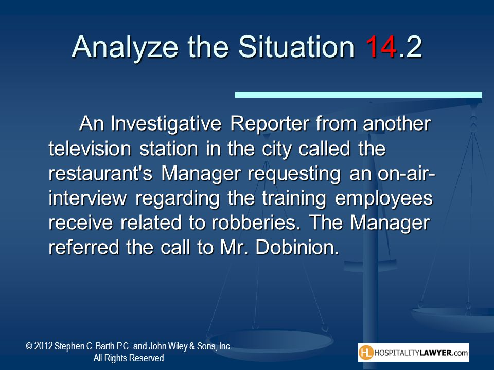 Analyze the Situation 14.2