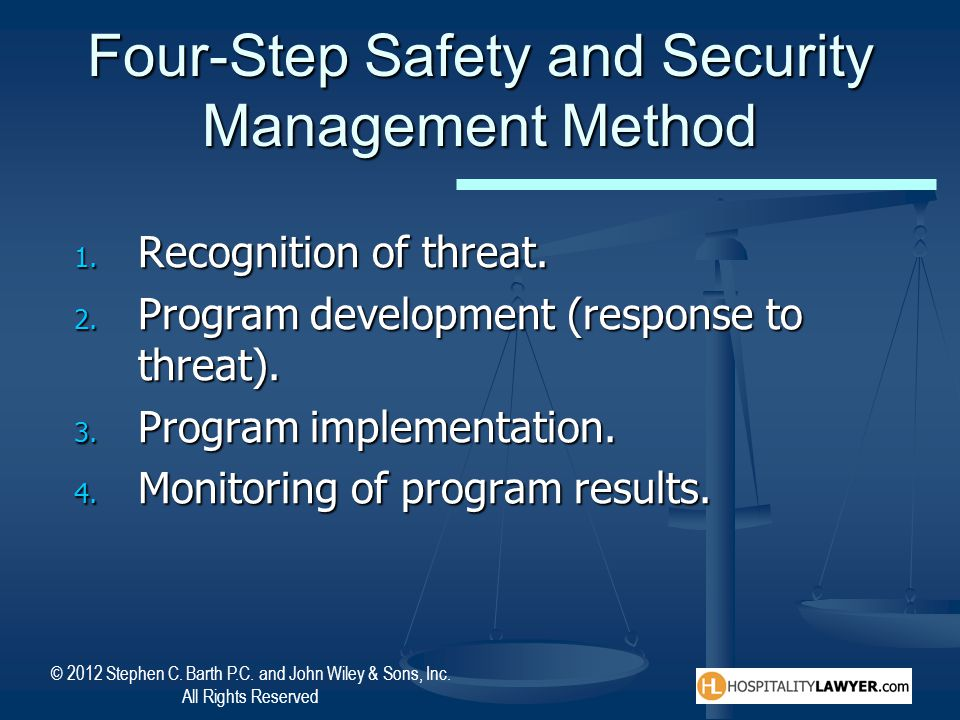 Four-Step Safety and Security Management Method