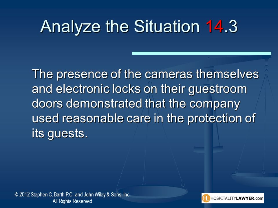Analyze the Situation 14.3