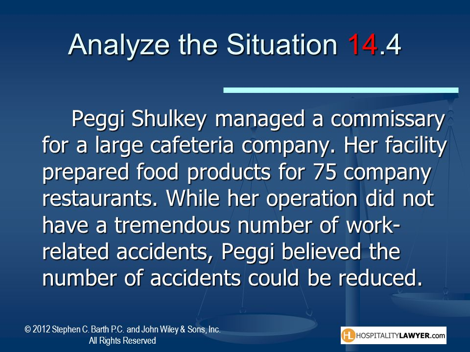 Analyze the Situation 14.4