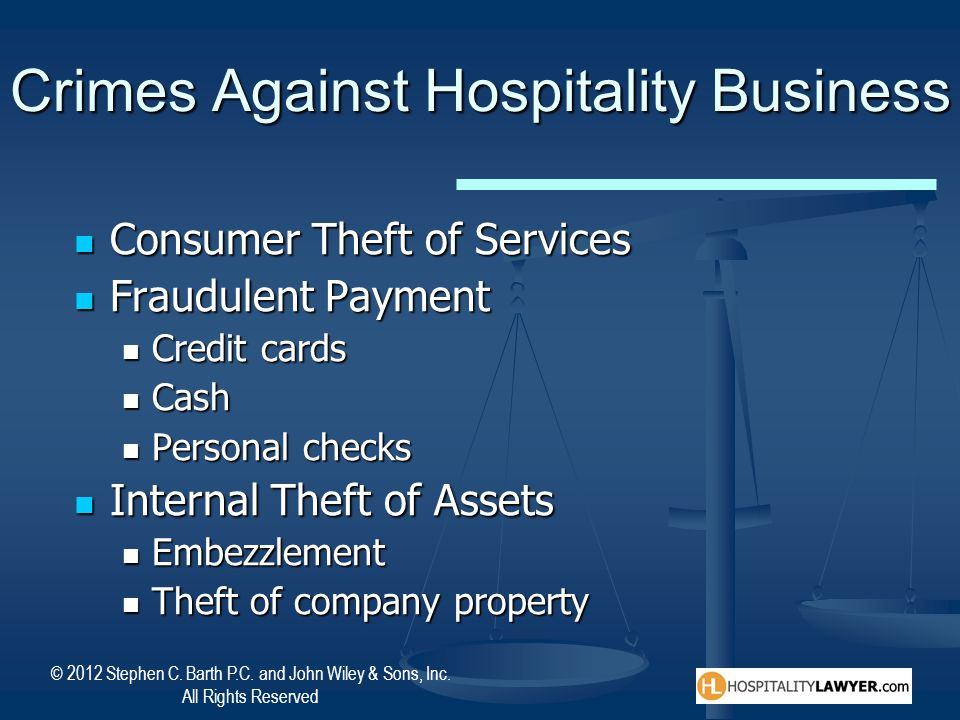 Crimes Against Hospitality Business