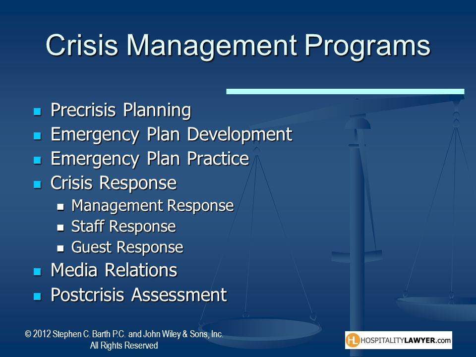 Crisis Management Programs