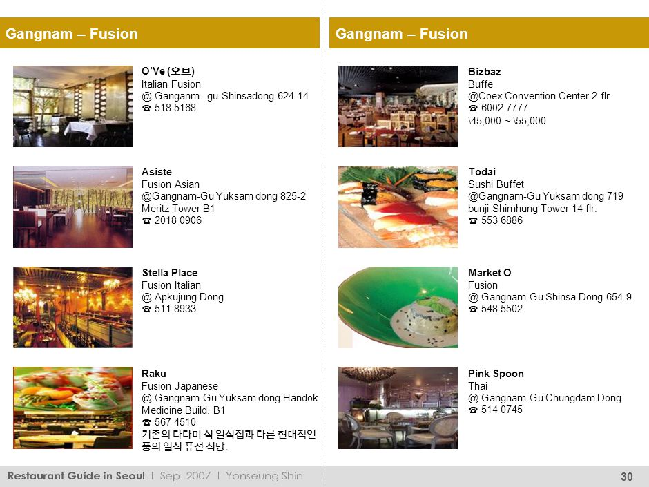 Gangnam – Fusion Flambe Multination Cuisine