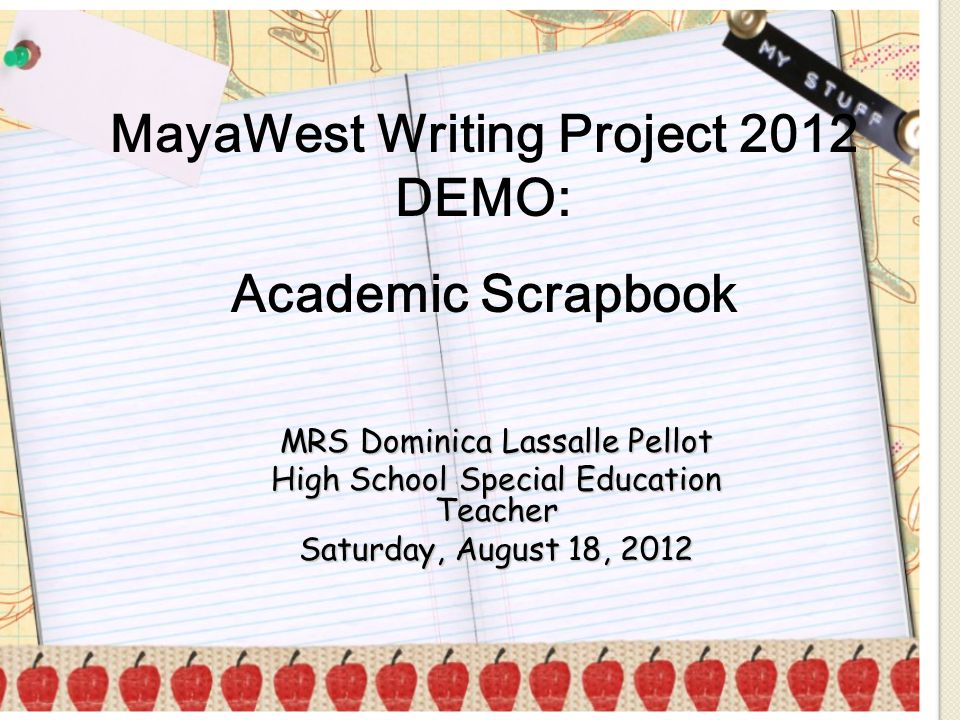 MayaWest Writing Project 2012 DEMO: