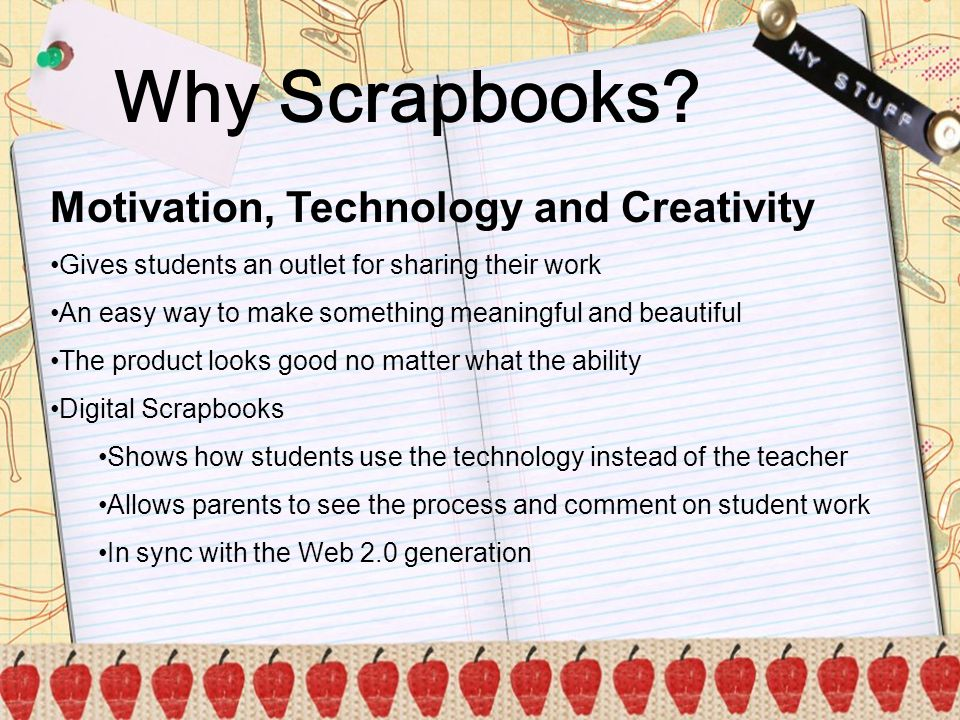 Why Scrapbooks Motivation, Technology and Creativity