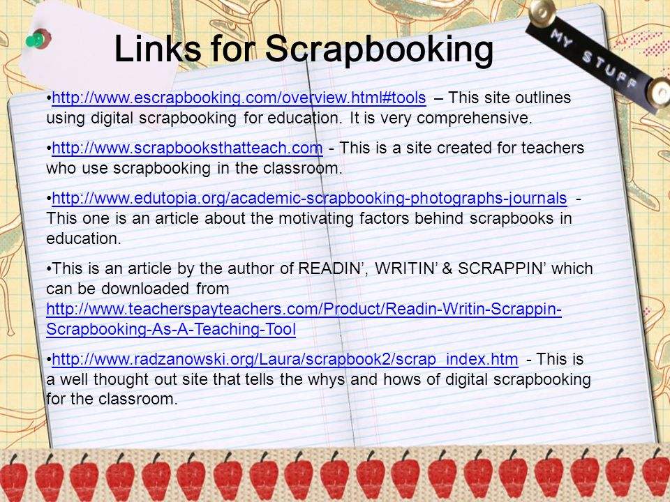 Links for Scrapbooking