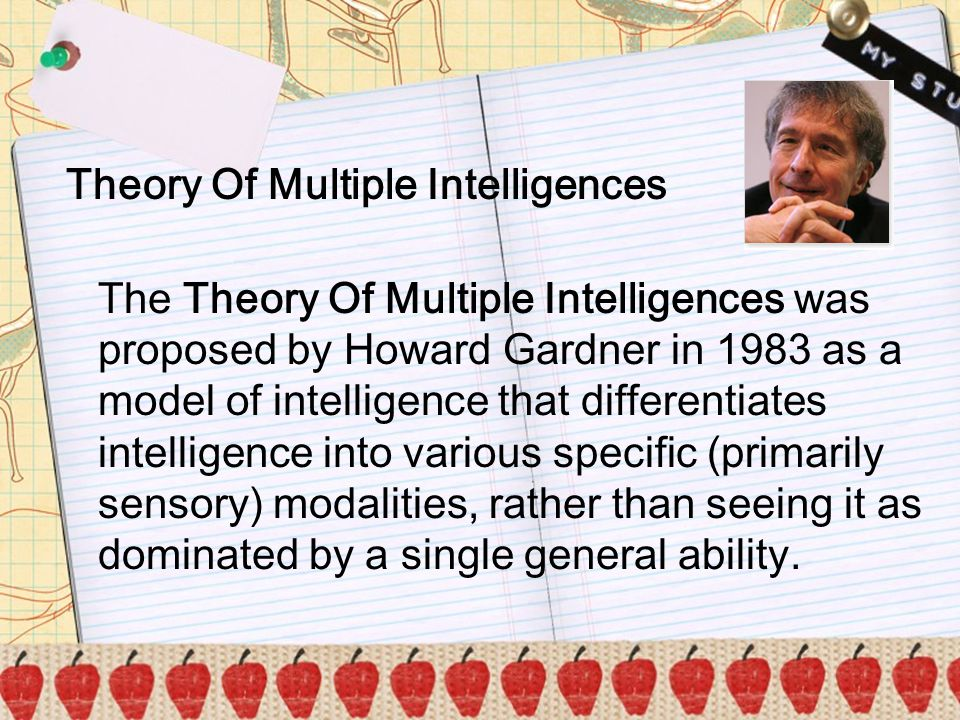 y Theory Of Multiple Intelligences