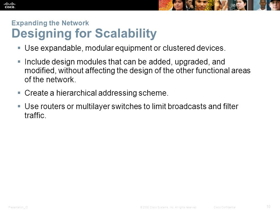 Expanding the Network Designing for Scalability