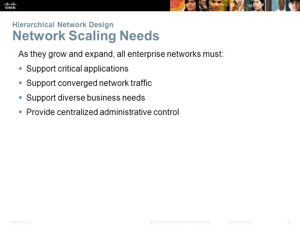 Hierarchical Network Design Network Scaling Needs