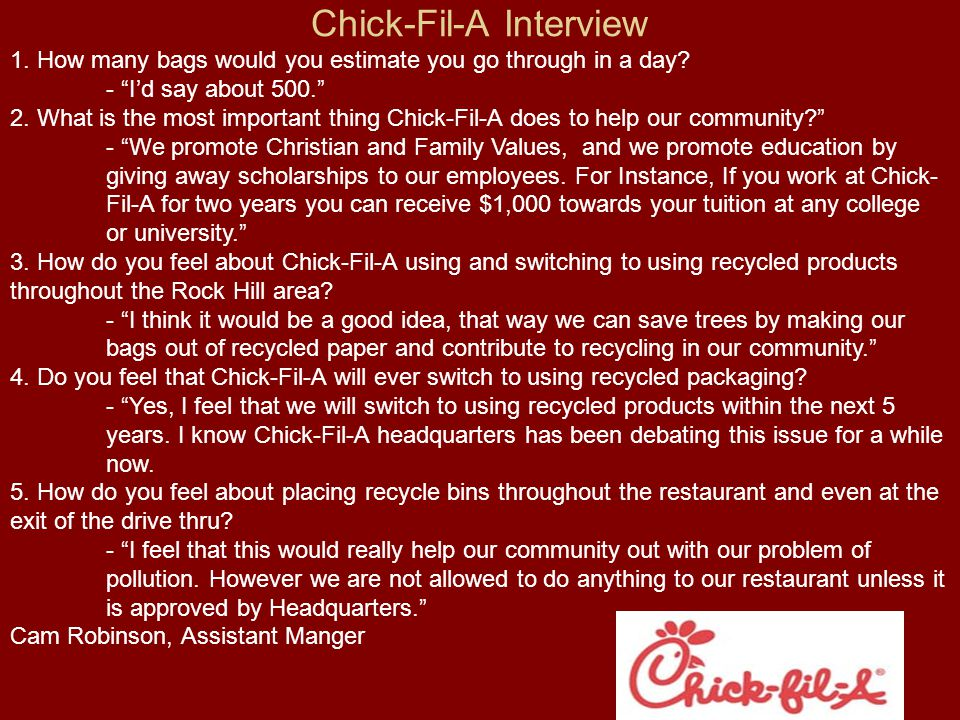 Chick-Fil-A Interview