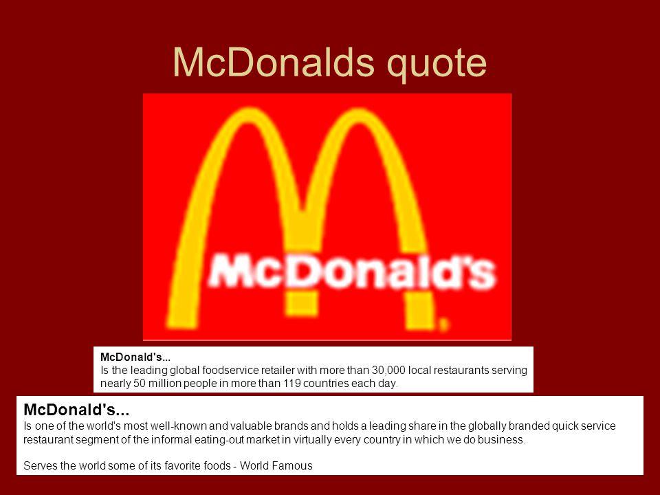 McDonalds quote