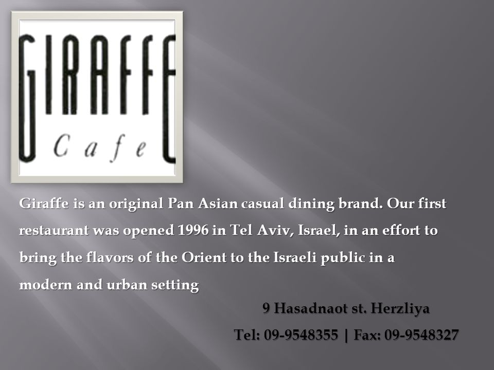 9 Hasadnaot st. Herzliya Tel: 09-9548355 | Fax: 09-9548327