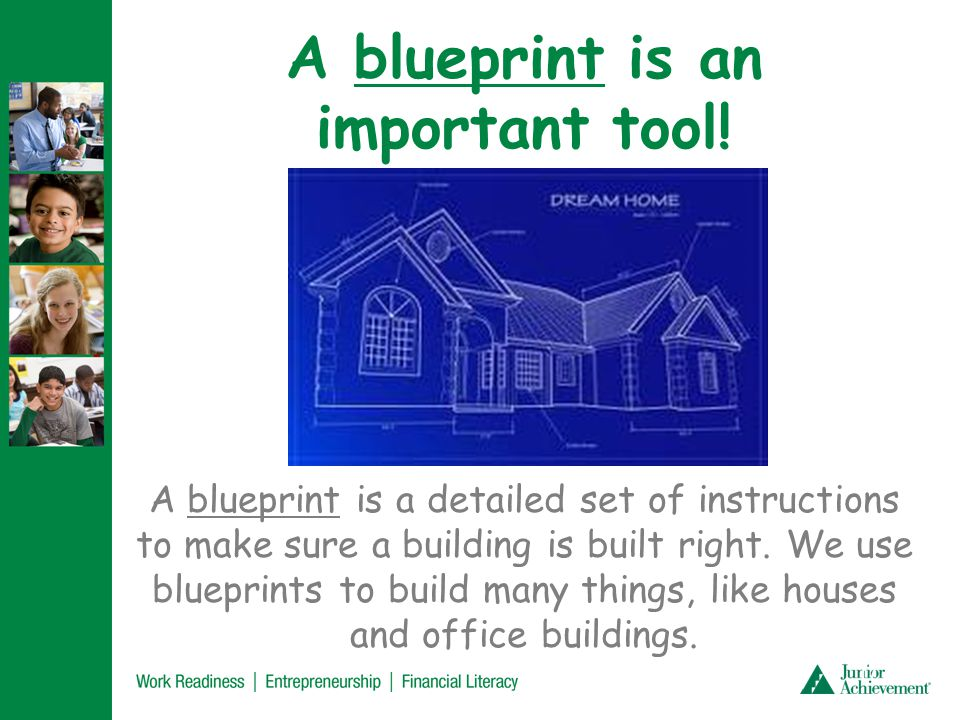 Let's look at an example of a blueprint.