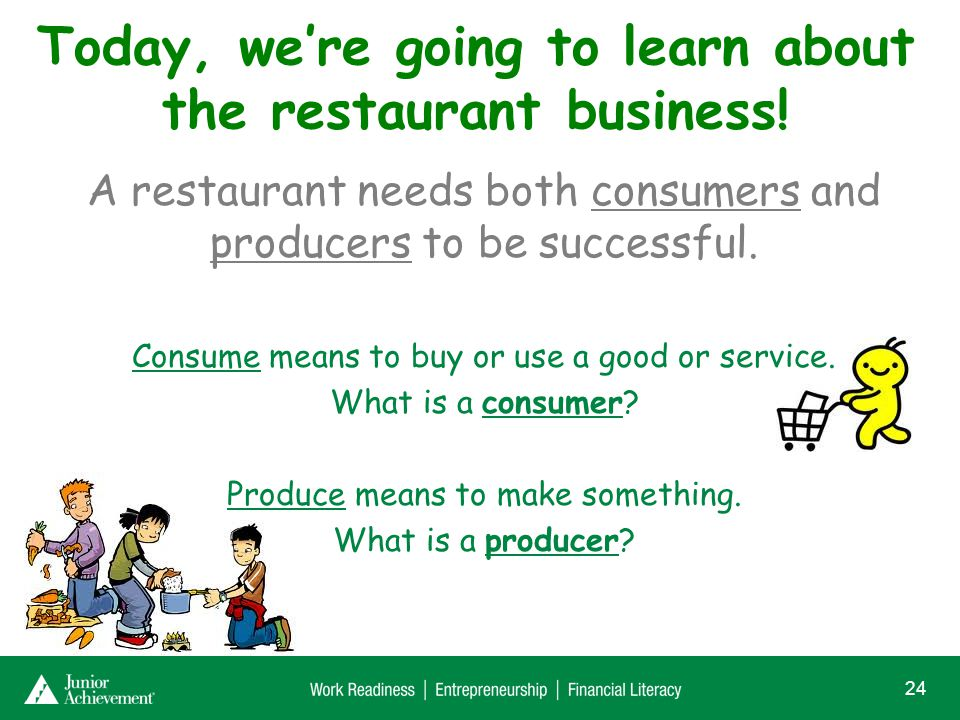 Who is a consumer and who is a producer