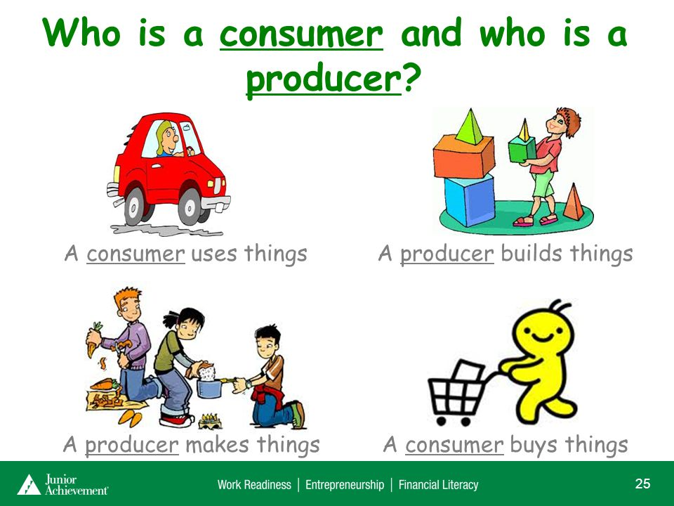 Is it possible to be both a consumer and a producer