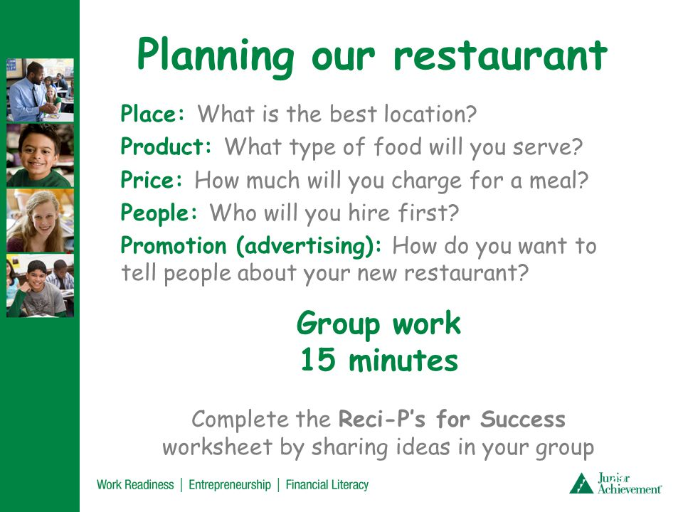 Which choices would make our restaurant the most successful