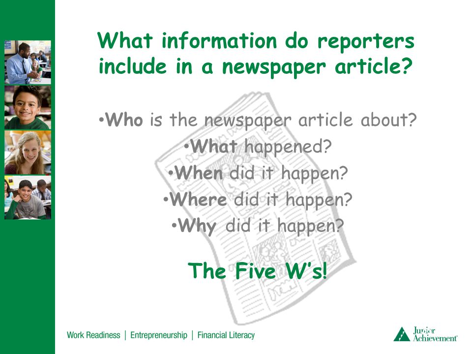 Let's become reporters!