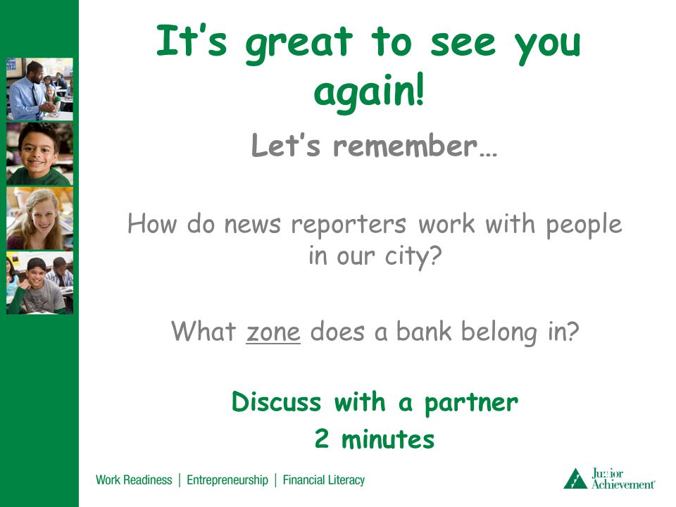 Today, we're going to learn about banks! Let's brainstorm: