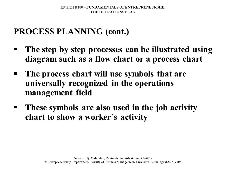PROCESS PLANNING (cont.)